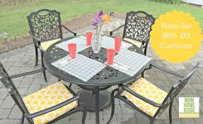 diy outdoor furniture cushions. Beautify And Outdoor Patio Set With DIY Envelope Cushion Covers! Diy Furniture Cushions U