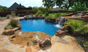 inground pools with waterfalls and hot tubs. Pool Custom Shapes Inground Pools With Waterfalls And Hot Tubs G