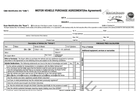 Sample Documents The Vehicle Sales Authority Of Bc
