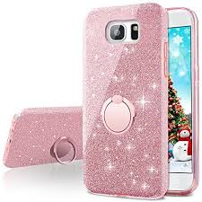 Amazon.com: Galaxy Note 5 Case,Silverback Girls Bling Glitter Sparkle Cute Phone Case With 360 Rotating Ring Stand, Soft TPU Outer Cover + Hard PC Inner