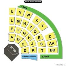 Robin Hood Dell East Seating Chart Robin Hood Dell East