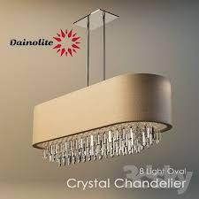 dainolite 8 light oval crystal chandelier