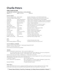how to build an acting resumes acting resume beginner how to make an acting resume resumes for