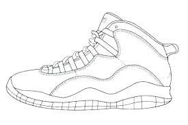 Jordan Shoes Coloring Sheets Coloring Pages Printable Shoes Coloring