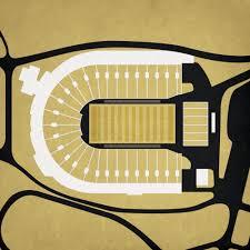 Ross Ade Stadium Map Art