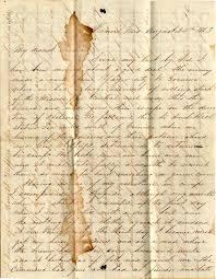 civil war letter photo