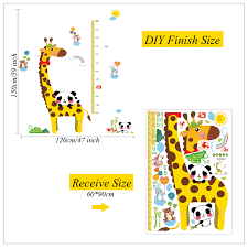 Diy Growth Chart Vinyl Us 11 0 12 Off 2 Sets Height Charts For Kids Diy Growth Chart Ruler Vinyl Decal Kit Cartoon Height Ruler For Boy Girl Room Wall Decal Sk9044 In