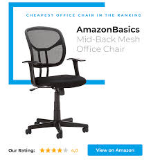 cheap office chairs amazon. AmazonBasics Mid-Back Mesh Office Chair Is The Cheapest In Our Ranking Cheap Chairs Amazon A