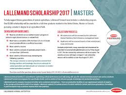 lallemand animal nutrition offers scholarships once again  undergraduate guidelines · masters guidelines