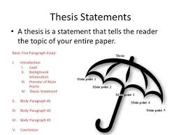 thesis statements a thesis is a statement that tells the reader  thesis statements a thesis is a statement that tells the reader the topic of your entire