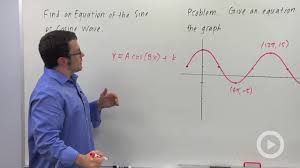 find an equation for the sine or cosine wave problem 2 trigonometry by brightstorm