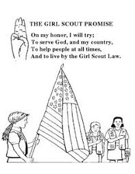 Small Picture Girl Scout Promise Coloring Page FunyColoring