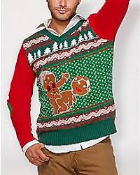 Light Up Humping Gingerbread Ugly Christmas Sweater Funny Sweaters for Men \u0026 Women - Spencer\u0027s