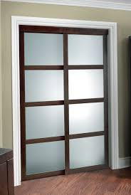 white frosted glass sliding closet doors