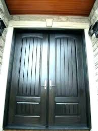 grand entrance rustic collection stained cherry fiberglass entry door with decorative
