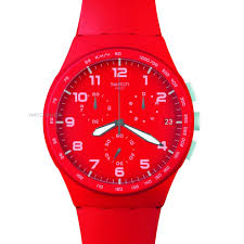 "men s swatch red shadow chronograph watch susr400 watch shop comâ""¢ mens swatch red shadow chronograph watch susr400"