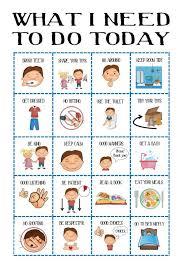 Boys Behaviour Chart Kids Daily Planner Toddler Routine