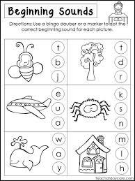 Worksheets on phonics for preschoolers. 10 Printable Beginning Sounds Worksheets Preschool 1st Grade Etsy