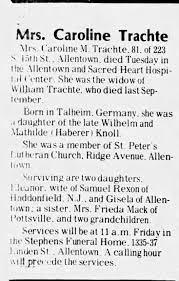 Mrs. Frieda Mack obituary of knolls - Newspapers.com
