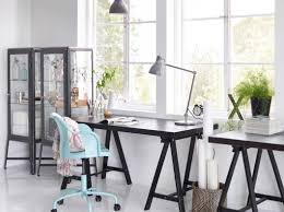 ikea office inspiration.  Ikea A Home Office With TORNLIDEN Desk In Black Black FABRIKR Glass Cabinet  And ROBERGET Swivel Intended Ikea Office Inspiration