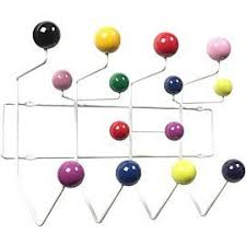 Coloured Ball Coat Rack Charles Eames Inspired Hang It All Coat Hanger Multi Coloured Balls 1
