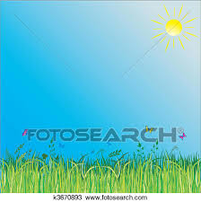 summer background clipart of summer background with green grass k3670893 search clip