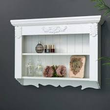shabby chic wall shelf ornate white painted wooden wall shelf vintage shabby chic shelving display shabby