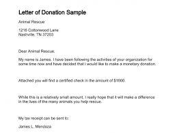 Donation Letter Samples Letter Of Donation