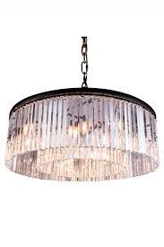sydney mocha brown pendant lamp clear crystal zoom