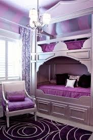 Bedroom:Luxurious Girl Bunk Beds In Beautiful Purple Interior Design Idea  Impressive Purple Bedroom Decorating
