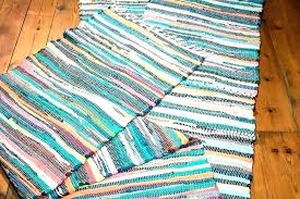 cotton rag rugs washable rug runners runner interesting area table