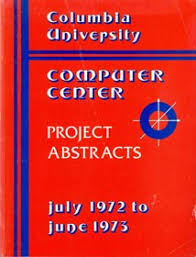 front page for computer project computing at columbia timeline