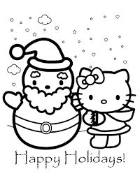 Small Picture Hello Kitty Christmas Coloring Pages Learn To Coloring