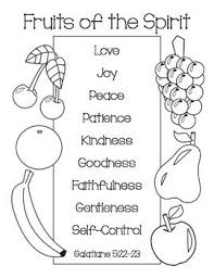 Fruit Of The Spirit Free Coloring Pages On Art Coloring Pages