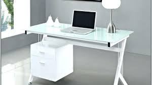 white glass desk with hanging lacquered drawers cool design intended for prepare 7