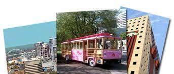 <b>Pink</b> Trolley Hop-On Hop-Off Sightseeing Tour – Portland | Gray ...