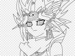 Megumi ogata (toei anime), shunsuke kazama (duel monsters), dan green (english), irwin daayán (latin. Yami Yugi Line Art Gohan Goku Yu Gi Oh Yugi Oh Angle Blanc Png Pngegg