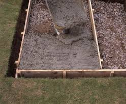 to pour a concrete patio