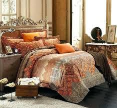 burnt orange and brown comforter sets amazing bedding for luxury duvet covers decoration comforte