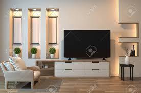 Tv Set Cabinet Designs Tv Cabinet On Zen Room Interior And Shelf Wall Design Hidden