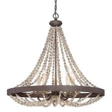 rustic french country beaded pendant beaded lighting