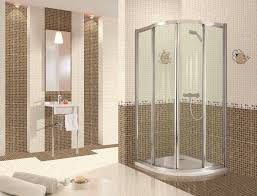 charming tile ideas for bathroom. Tiles Bathroom Charming White Gloss Porcelain Mosaic Floor Tile Ideas Stainless Frames Shower Cubicle Cool Single Sink Chrome Stand Decorate Luxury Decor For H