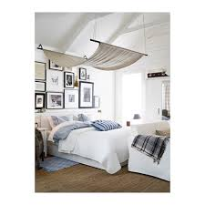 BRUSALI Bed frame with 2 storage boxes White luröy Standard Double