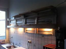 Shelves Made From Pallets K 1 4 Chenregal Leer Beleuchtet Badezimmer Ideen Pinterest Loft