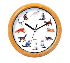 al wall clocks with motion movement cat sound clock movem