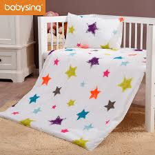 baby bedding set 100 cotton little star kids bed duvet cover pillowcase without filling fc2k007 in bedding sets from mother kids on aliexpress com