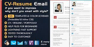 Newsletter Templates Cv Folio Email Resume Portfolio Cv