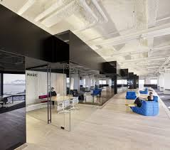 office design sf. impromptu \u201chuddle\u201d spaces are integrated in between. given that screen-share is such an important part of their work, the space supports interaction with office design sf c