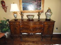 one of the few remaining plete sets of a flame gany romweber chippendale style dining room suite including 1 table with 4 additional leaves not