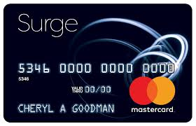surge card matrix credit card